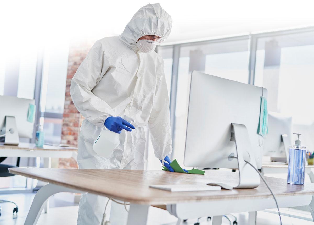 Die Peterhoff-Gruppe: Desinfektoren im Dauereinsatz