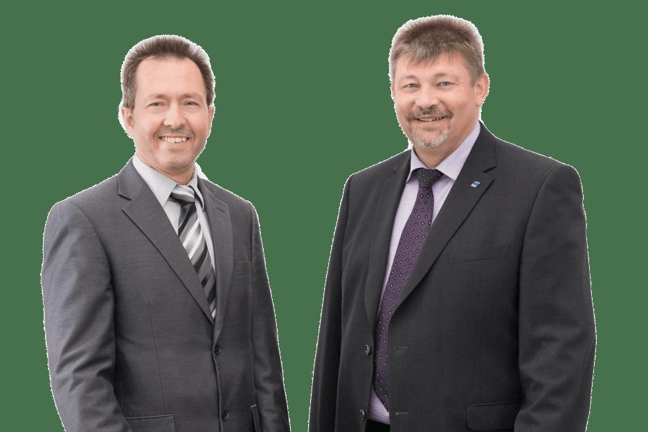 Die Geschäftsführung der WWS Schutz und Sicherheit GmbH: Eduard Tomm (Prokurist) und Wolfgang Roth (Geschäftsführer)